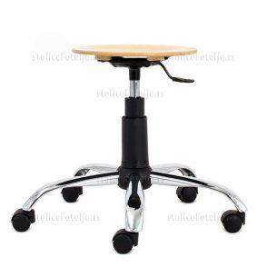 Laboratorijska stolica 1030 Zon Wood Cr