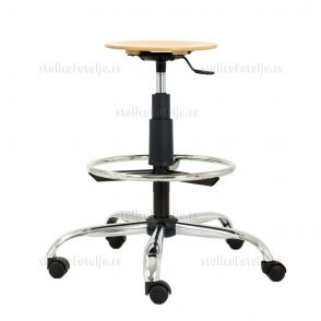 Laboratorijska stolica 1030 Zon Wood Cr Ring